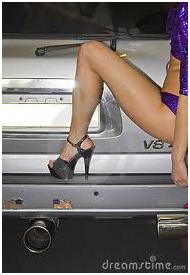 raunchy leg posing shot of hooker