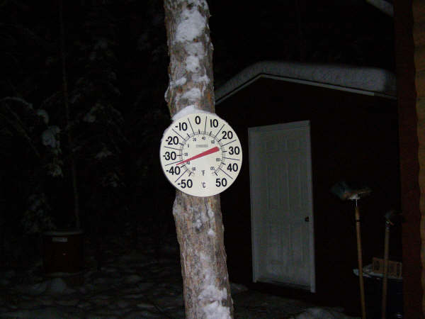 Thermometer at Yellow Knife, Canada